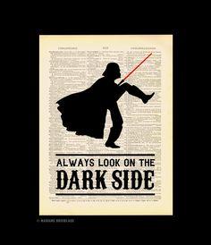 Star Wars Poster MONTY PYTHON Darth Vader Office Wall Art Decor Retro Movie Poster Gift for Man Him Husband Boyfriend Christmas Gift 470
