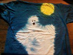 Halloween Tie Dye Ghost T Shirt. $15.00, via Etsy.