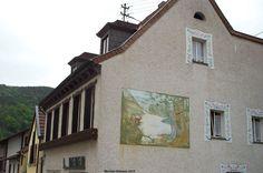 Waldszene-Graffito in Lambrecht
