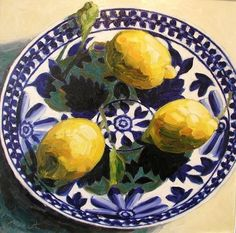 bofransson: JULIAN HEATH - Lemons in blue and white bowl, my mom would love this painting Art Inspo, Painting Inspiration, Painting Still Life, Still Life Art, Fruit Painting, Francis Bacon, Oranges And Lemons, Fruit Art, Fruit And Veg