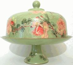 vintage cake stand- how lovely- I can envision a beautiful Lady Baltimore cake on this stand....ms