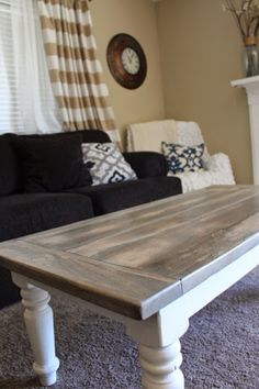 little bit of paint: refinished coffee table | furniture