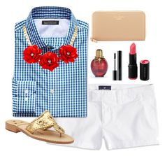 """picnic time"" by brooklm ❤ liked on Polyvore featuring American Eagle Outfitters, Banana Republic, Jack Rogers, Giorgio Armani and Kate Spade"