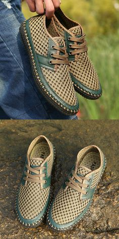 US$34.99 + Free shipping. Men's shoes casual, breathable shoes, summer shoes, flexible low top shoes, men's sneakers, shoes for men. Material: cowhide+net, rubber. Color: orange, army green, gray, brown.