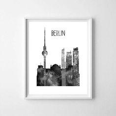 Berlin Berlin printable Berlin skyline Berlin art office