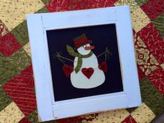 Heartfelt Christmas wool applique pdf pattern by myreddoordesigns