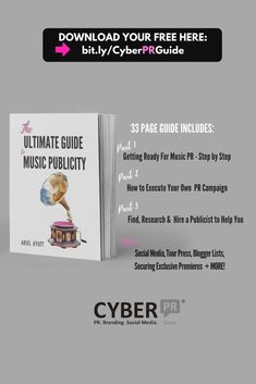The Ultimate Guide to Music Publicity - Cyber PR Music Step Music, Free Ebooks, Ariel, Cyber, Musicians, Campaign, Articles, How To Get, Social Media