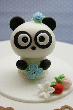 Beautiful Kitchen: Panda Cake Topper for Amber's 8th Birthday