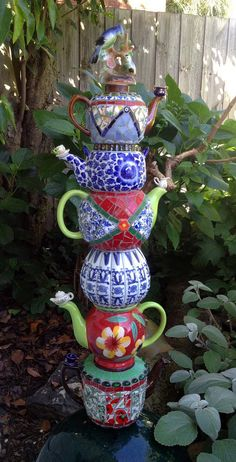 Another teapot tower I made last year for a friend