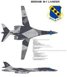 The Bomb Wing BW) is the premier operational Lancer unit in the United States Air Force, based at Dyess Air Force Base, Abilene, Texas. The 7 BW is part of the Twelfth Air Force, Air Co. Military Camouflage, Military Guns, Military Aircraft, Air Fighter, Fighter Jets, Bomber Plane, Stealth Bomber, Dazzle Camouflage, Aircraft Painting