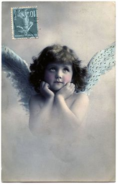 #vintage #postcard #angel