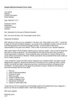 editorial istant cover letter workalpha cover letter