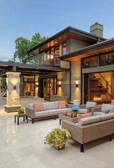 45 luxury modern house exterior design ideas – My Ideas Dream Home Design, Modern House Design, Glass House Design, Modern House Plans, Design Exterior, Modern Exterior, Luxury Homes Dream Houses, Dream Homes, Dream House Exterior