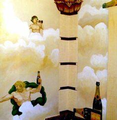 A fresco fantasy in the cloakroom.