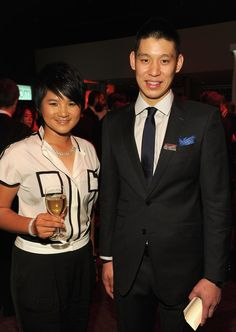 Pro Golfer, Yani Tseng and NBA player, Jeremy Lin attends the TIME 100 Gala, TIME'S 100 Most Influential People In The World, cocktail party at Jazz at Lincoln Center on April 24, 2012 in New York City.