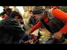 Georgia Children Look Through Their Shoeboxes-Operation Christmas Child