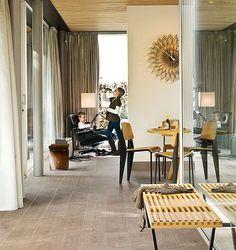 Grey-brown laminate flooring