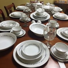 Beautiful China ready for the holidays.  8 place setting and 14 special pieces.