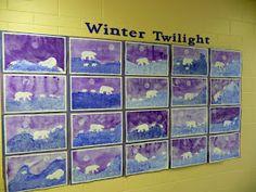 that artist woman: Polar Bears Revisited Class Art Projects, Summer Art Projects, Kindergarten Art, Preschool Art, Winter Crafts For Kids, Art For Kids, Polar Bear Paint, Montessori Art, Art Lessons Elementary