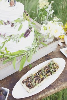 Herb-Infused Inspiration from Alisa Lewis Event Design and Park Road Photography Herb Wedding, Wedding Ideas, Dream Wedding, Foods To Eat, I Foods, My Favorite Food, Favorite Recipes, Mushroom Tart, Wedding Cake Alternatives