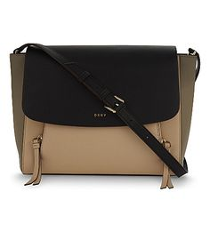 DKNY Greenwich leather messenger bag. #dkny #bags #leather #travel bags #weekend #
