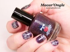 Purple stamping nailart - stamping violet (Emily de Molly stamping plate and…