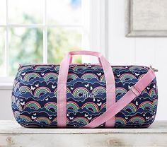Mackenzie Navy Rainbow Duffle Bag | Pottery Barn Kids