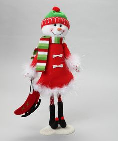 Take a look at this Red Wire Snowman by Dennis East: Christmas Decorations on #zulily today!