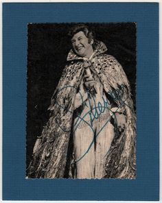 Liberace, W. Valentino - Signed Photo