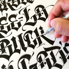 Luca Barcellona- personal handlettering based on blackletters/cholo. work in progress