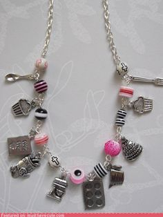 LOVE THIS NECKLACE - From Etsy...It is already sold...like is because baking is my hobby AND it reminds me of the charm necklaces I had as a pre-teen