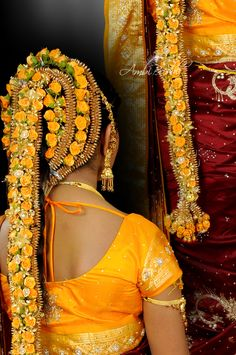 South Indian hairstyle. Bridal hair