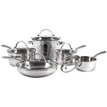 Pots & Pans Set Cookware Kitchen Cook Stainless Steel Even Heat Induction Safe