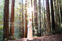 Beautiful Sunrise Maternity Shoot in the Forest | The Little Umbrella