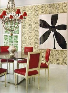 Wallpaper in Les Touches- Brown by Brunschwig & Fils at GP & J Baker.