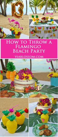 How to throw a Flamingo Beach Party!!  Check out our must have Flamingo Party Supplies and fabulous Flamingo party ideas!