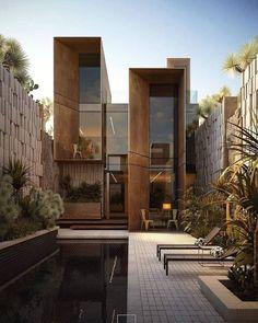 "REO | DECOR on Instagram: ""Describe this exterior in ONE word👇💥 • Get inspired: @amanndecor • cc: @raydesigns_hisham_bahaa_eldin • #exterior #villa #render #house…"""