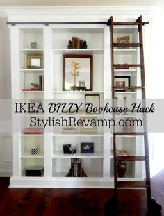 IKEA BILLY Bookcase Hack on StylishRevamp.com