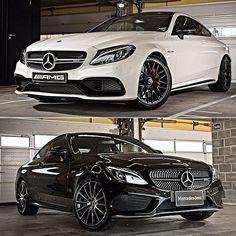 Mercedes-AMG C 63 S Coupé e C 43 4MATIC Coupé 2017 Essa é a nova dupla nervosa da Mercedes no Brasil. O C 63 S Coupé (branco) tem motor AMG V8 40 litros biturbo com 510 cv e 700 Nm de torque acoplado com transmissão esportiva AMG SpeedShift MCT de sete velocidades. O conjunto acelera de 0 a 100 km/h em 3.9s e velocidade máxima de 290 km/h limitada eletronicamente. velocidade máxima é 290 km/h limitada eletronicamente. O preço sugerido é de R$615.900.  Já o C 43 4MATIC Coupé vem com motor V6…