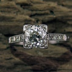 I will have a beautiful SQUARE diamond engagement ring. Emphasis on the square.