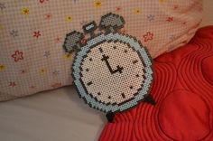 Clock perler beads