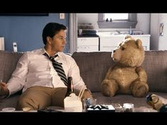 'Ted' starring Mark Wahlberg, Mila Kunis and Seth MacFarlane as Ted in the live action CG animated comedy. Watch the 'Ted' movie in theaters July Seth Macfarlane, Funny Movies, Great Movies, New Movies, Movies To Watch, Awesome Movies, Funniest Movies, Excellent Movies, Comedy Movies