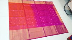 Indian Traditional Handloom Sarees: Uppada big border jamdhani silk sarees