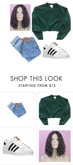 """""""Untitled #300"""" by cookiescore on Polyvore featuring Levi's and adidas"""