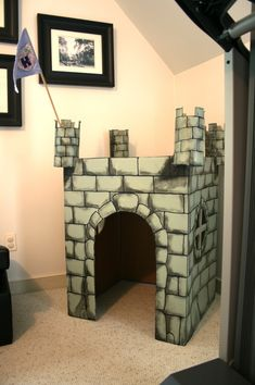 Castle out of cardboard box. Would be great for our Middle Ages unit study!