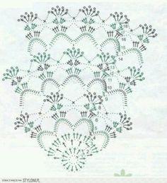 Home Decor Crochet Patterns Part 77 - Beautiful Crochet Patterns and Knitting Patterns Mandala Au Crochet, Crochet Doily Diagram, Crochet Doily Patterns, Crochet Chart, Crochet Squares, Crochet Doilies, Free Crochet, Crochet Wool, How To Start Knitting