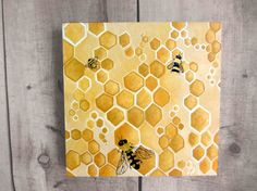 Abstract Honey Painting Honey Bee Honeycomb by Treelovergirl