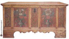 Big handpainted tyrolean chest 1767 | Grande cassapanca tirolese | Antichità Missaglia