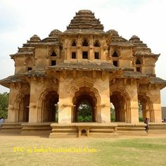 HINDU ARCHITECTURE:  Lotus Mahal in Hampi, India 15th or early 16th century. The Vijayanagar Empire was the most powerful Hindu KIngdom in Sout India during the 14th-16th centuries. This structure is an eclectic mix of Hindu and Islamic architectural elements.
