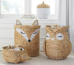 Shop kids storage bins and baskets at Pottery Barn Kids. Stay organised with wicker baskets, wired bins, and more. Pottery Barn Kids, Chambre Nolan, Boy Room, Kids Room, Diaper Caddy, Fox Toys, Baby Supplies, Baby Boy Nurseries, Baby Boy Nursery Themes